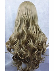 cosplay wig 2015 New Movie Princess Cinderella Wig Long Curly Ash Blonde Anime Cosplay Wig