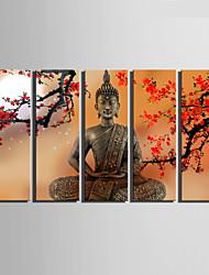 toile set Paysage Style européen,Cinq Panneaux Toile Verticale Imprimer Art Décoration murale For Décoration d'intérieur