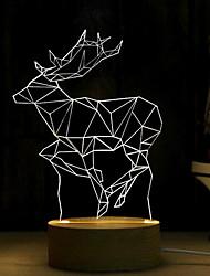 3D Lettering Wood Table Lamp Nightlight Decorative Lamp