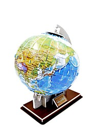 3D Paper Cardboard Jigsaw Puzzle Globe Model
