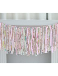 Vintage Bridal Baby Shower Engagement Decoration Fabric Garlands Birthday Party Banner Wedding Accessory