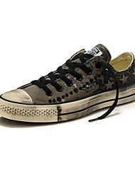 Femme-Extérieure / Décontracté / Sport-Noir / Bleu / Gris / Noir et Or / Noir et blanc-Talon Plat-Bout Arrondi-Sneakers-Toile