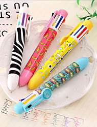 Eight Color Visual Ballpoint Pen Lovely Multi-color Ball-point Pen