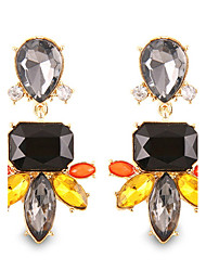 Personality Hyperbole Gorgeous Black Crystal Drop Earrings High-end Jewelry