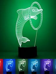 дельфин творческий красочный USB 3D водить ночи свет