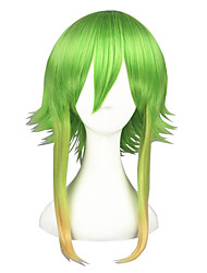Cosplay Wigs Vocaloid Gumi Green Medium Anime Cosplay Wigs 45 CM Heat Resistant Fiber Male / Female