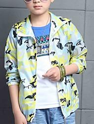 Casual/Dagelijks-Kleurenblok-Polyester-Zomer-Boy's-Kostuum & Blazer-Blauw