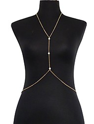 Imitation Pearl / Gold Plated Body Chain Daily / Casual 1pc