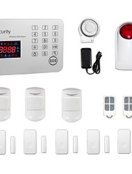 Android IOS APP Touch Keypad GSM SMS Home House Office Burglar Intruder Wireless Alarm System /Outdoor Strobe Siren