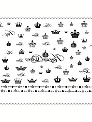 5PCS Fashion King and Queen Body Art Waterproof Temporary Tattoos Sexy Tattoo Stickers (Size: 3.74'' by 5.71'')