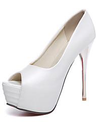 Women's Shoes Stiletto Heel Peep Toe / Platform Heels Wedding / Party & Evening / Dress Blue / Pink / White / Coral