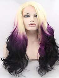 Synthetic Front Lace Ombre Color Two Tone T613/Purple Color Wigs For Fashion Woman