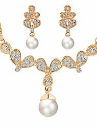 Schmuck Halsketten / Ohrringe Halskette / Ohrringe / Braut-Schmuck-Sets Modisch Hochzeit / Party / Alltag / Normal 1 Set Damen Goldfarben