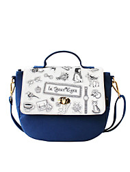 Flower Princess® Women Canvas Shoulder Bag Blue-1603MX001