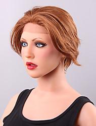 moda penteado curto reta dianteira do laço do cabelo humano peruca