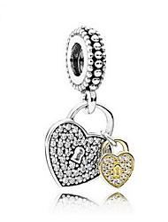 DIY Schmuck 925 Silber Herzform Anhänger