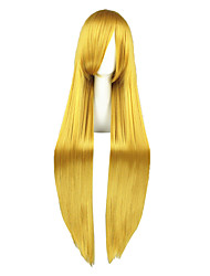 Cosplay Wigs Code Gease Fay Lune Golden Long Anime Cosplay Wigs 100 CM Heat Resistant Fiber Male / Female