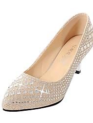 Zapatos de mujer - Tacón Stiletto - Tacones - Tacones - Vestido / Casual / Fiesta y Noche - Semicuero - Negro / Plata / Oro