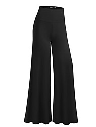 Women's Wide Leg Solid Black Wide Leg Pants,Street chic