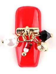 la nueva herramienta de aleación hecha a mano de la manicura del pegamento esmalte de manicura cristal de diamante de la perla colgante de