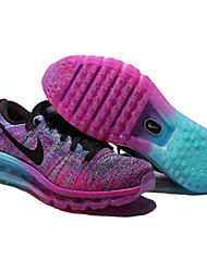 Nike Flyknit Air Max Women's Running Shoes Fuchsia Nike Flyknit AirMax Sports Sneakers