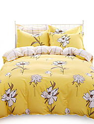 Full Cotton 4PC Duvet Covers Set Floral Pattern