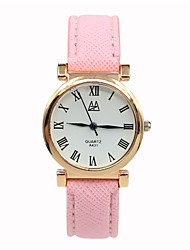 Women's Dress Watch Fashion Watch Casual Watch Quartz Leather Band Vintage Black Blue Brown Pink Rose