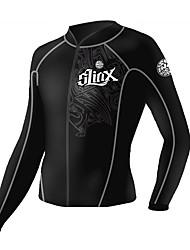 Autres Unisexe Combinaisons Tenue de plongée Compression Costumes humides 2.5 à 2.9 mm Noir S / M / L / XL / XXL Plongée
