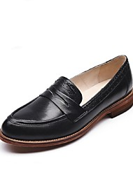 Women's Shoes Leather Spring / Summer / Fall Espadrilles Loafers / Party & Evening / Casual Low Heel OthersBlack /