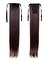 High Quality Drawstring Ponytail 22inch 55cm 100g Cheap  #4 Brown For Beautiful Ladies  Synthetic Straight Tail