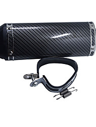 38MM Dirt Pit Bike Motorcycle Exhaust Muffler With Silencer Clamp Carbon