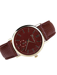 Women's Geneva Case Leather Band Analog Quartz Watch Wrist Watch