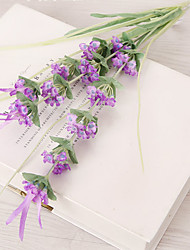 Hi-Q 1Pc Decorative Flowers Real Touch Mini Lavender For Wedding Home Table Decoration Artificial Flowers