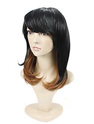 couleur ombre longueur moyenne cheveux européens nouveau style cheveux synthétiques perruque