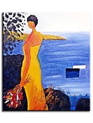 Pinturas de óleo Personas Estilo / Modern / Clásico / Tradicional / Realismo / Mediterráneo / Pastoral / Estilo europeo,Un Panel Lienzos
