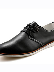 Men's Oxfords Summer Flats Leather Casual Flat Heel Gore Black / Brown / White Walking