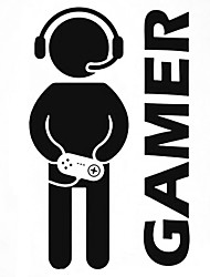 Fashion The Gamer Pattern PVC Bathroom or Bedroom or Glass Wall Sticker Home Decor