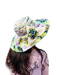 Women Summer Florals Print Multi Colors Ribbon Floppy Hats Large Brim Foldable Sun Hat