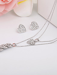 Simple Love Diamond Jewelry Set And AlloyImitation Diamond Birthstone