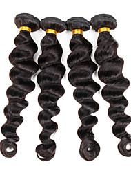 4 Peças Ondulação Larga Tramas de cabelo humano Cabelo Indiano Tramas de cabelo humano Ondulação Larga