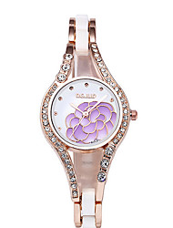 Women's Flower Fashion Steel Band Quartz Watch