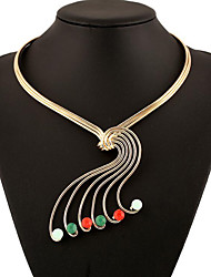 MPL Europe and the United States exaggerated gem style short openings can be stretched Necklace