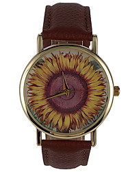 Fashion Personality Phase Paper Sunflower Female Students Watch