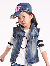 Girl's Casual/Daily Solid Jeans / Vest,Cotton Spring / Fall Blue
