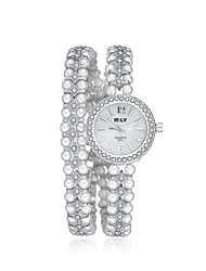 2016 Jewelora Pearl Luxury Noble Cubic Zircon Silver Quartz Women Party Watches Fashion Watch