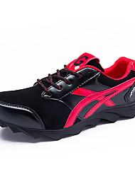 Sapatos Masculinos-Tênis / Tamancos e Mules-Prateado / Preto e Vermelho / Preto e Branco-Tule / Pele / Couro Ecológico-Casual / Para
