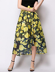 Damen Röcke - Anspruchsvoll Asymmetrisch Andere Mikro-elastisch