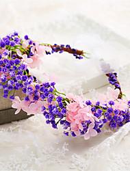 Women's / Flower Girl's Resin / Fabric Headpiece-Wedding / Special Occasion Wreaths 1 Piece Purple Irregular 58
