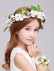 Jeune bouquetière Mousse Casque-Mariage / Occasion spéciale Fleurs 2 Pièces