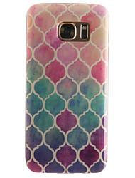 Pour Samsung Galaxy S7 Edge Motif Coque Coque Arrière Coque Forme Géométrique Flexible PUT pour SamsungS7 edge S7 S6 edge S6 S5 Mini S5